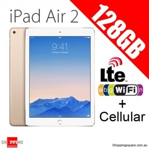 Apple iPad Air2 128GB 9.7inch Wifi+Cellular Tablet 4G LTE Gold