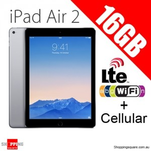 Apple iPad Air2 16GB 9.7inch Wifi+Cellular Tablet 4G LTE Grey