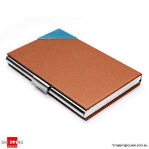 Mini Business Name Card Case Holder Brown Colour