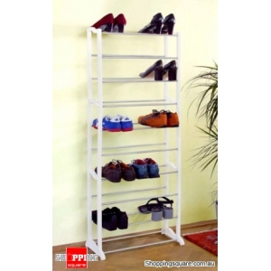 Metal Shoe Rack- Holds 30 Pairs of Shoes