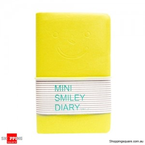 Mini Diary Notebook with Charming Smile Face Yellow Colour