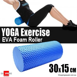 30x15cm EVA Foam AB Roller YOGA Exercise Blue Colour