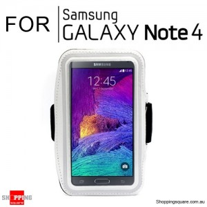 Sports Armband Case for Samsung Galaxy Note 4 White Colour