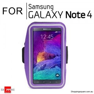 Sports Armband Case for Samsung Galaxy Note 4 Purple Colour