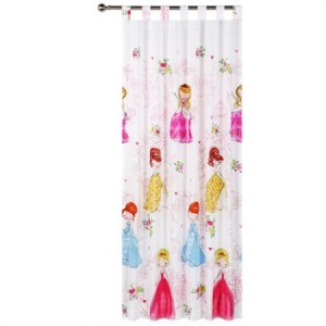 Glow in the Dark Princess Girl Tab Top Curtains