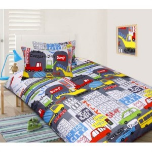 Glow In The Dark Single Bed In the City Quilt Cover Set