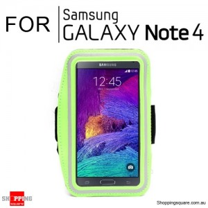 Sports Armband Case for Samsung Galaxy Note 4 Green Colour