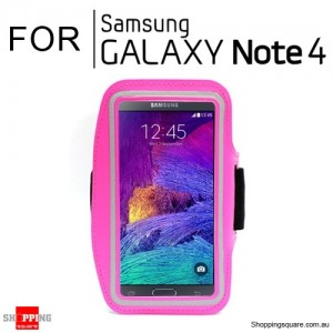 Sports Armband Case for Samsung Galaxy Note 4 Pink Colour
