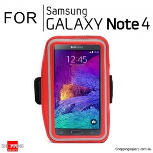 Sports Armband Case for Samsung Galaxy Note 4 Red Colour