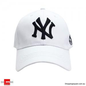 Snapback adjustable Baseball Cap Hip-Hop Hat White Colour