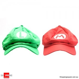 Pair Super Mario and Luigi Brothers Hats