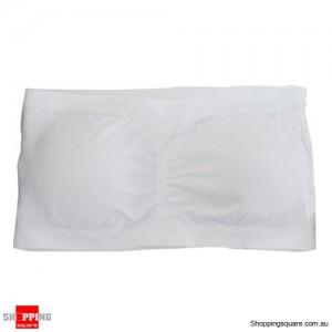 Ladies Strapless Boob Tube Top Padded Bra Size 16 White Colour