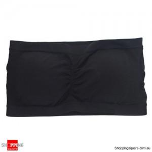 Ladies Strapless Boob Tube Top Padded Bra Size 16 Black Colour