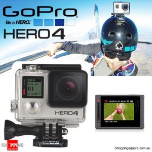 GoPro HERO4 Camera Silver Edition 4K 1080p Super View Action Camera