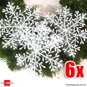 6 X Nice White Shining Snowflake 6cm Diameter for Christmas Decoration