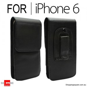 Business Leather Belt Clip Pouch Case Cover for iPhone 6S/6 4.7 inches - Vertical