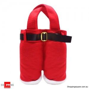 Cute Christmas Santa Red Pant Gift Bag for Decoration