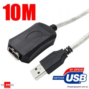 10M Male A to Female A USB 2.0 Extension Cable