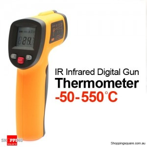 No-contact IR Infrared Digital Gun Thermometer -50-550℃ with LCD Display