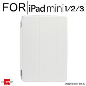 iPad Mini 1/2/3 Smart Stand Hard Cover Case White Colour