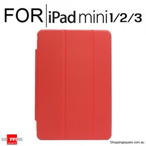 iPad Mini 1/2/3 Smart Stand Hard Cover Case Red Colour