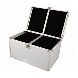 240 Disc CD/DVD/Bluray Storage Box Case with Aluminum Trim Edge