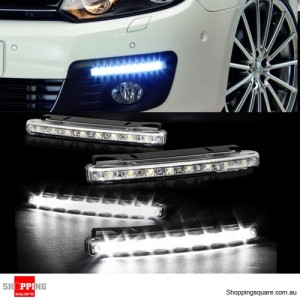2x Super Bright COB White Car LED Lights