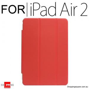 iPad Air 2 Smart Stand Hard Cover Case Red Colour