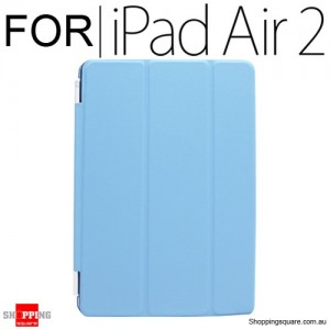iPad Air 2 Smart Stand Hard Cover Case Blue Colour