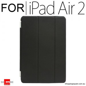 iPad Air 2 Smart Stand Hard Cover Case Black Colour