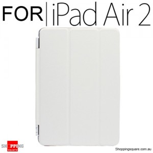 iPad Air 2 Smart Stand Hard Cover Case White Colour