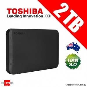 Toshiba Canvio 2TB 2.5 inch HDD USB 3.0 Portable External Hard Drive Disk
