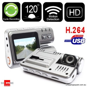 HD 720P Dual Car Camera H.264 Dash DVR Video Recorder G Sensor