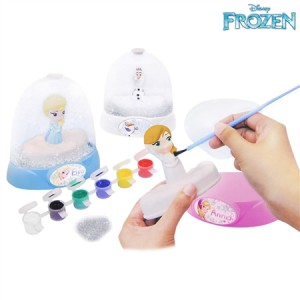 Disney Frozen Make Your Own Glitter Domes Anna/Elsa/Olaf Craft Doll Figurine