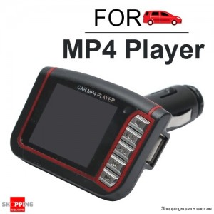 Wireless FM Transmitter Stereo Car MP4 Player Kit - Support TF Card, USB Drive