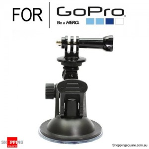 Universal Mini Car Mount Holder with Suction Cup for GoPro HERO 5/4/3+/3/2/1 Black Colour