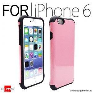 Heavy Duty Tough Slim Armor Case Cover for iPhone 6S/6 4.7 inches Pink Colour
