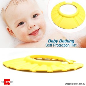 Soft Protection Hat for Baby Children Bathing Yellow Colour