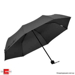 Windproof Mini Compact Folding Handbag Umbrella Black Colour
