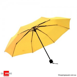Windproof Mini Compact Folding Handbag Umbrella Yellow Colour