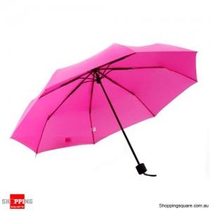 Windproof Mini Compact Folding Handbag Umbrella Pink Colour