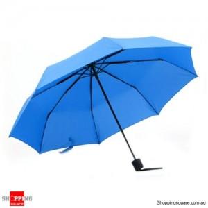 Windproof Mini Compact Folding Handbag Umbrella Light Blue Colour