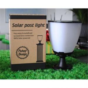 Outdoor Modern Waterproof Solar  Garden Pillar Light