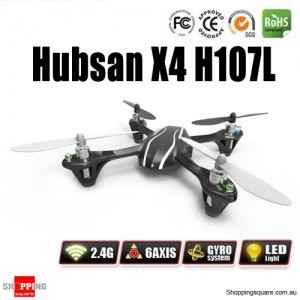 New RC Hubsan X4 H107L 4CH 2.4GHz UFO Quadcopter with LED Light