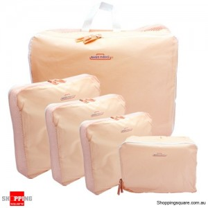 5x Traveller's Luggage Organizer Bag Pink Colour