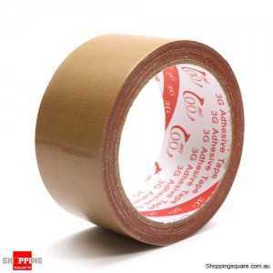 Waterproof Self-adhesive Book Binding Cloth Tape 45mm x 9m Brown Colour