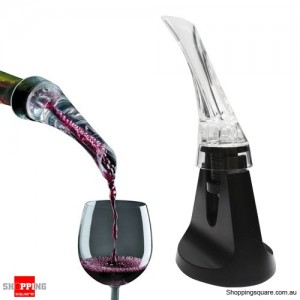 Portable Red Wine aerator Bottle Pourer with Stand