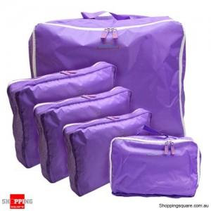 5x Traveller's Luggage Organizer Bag Purple Colour