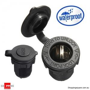 Waterproof 12V 24V Motorcycle Car Cigarette Lighter Socket Plug