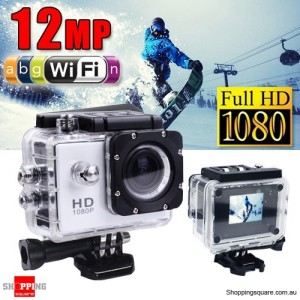 GoAction SJ4000 WiFi Full HD 1080P 12MP Waterproof Sports Action Camera Pro DV White Colour